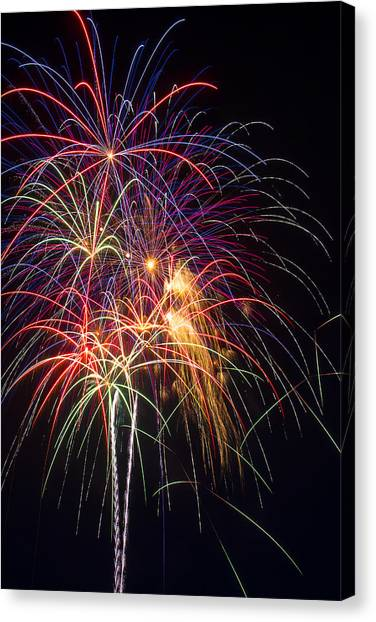 Pyrotechnics Canvas Print - Awesome Fireworks by Garry Gay
