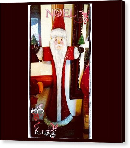 Holidays Canvas Print - Awesome #santa Made By My Sil. Part Of by Teresa Mucha