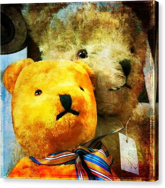 Teddy Bears Canvas Print - #awesomized #teddy-bear #teddy #bear by Enoch Soames