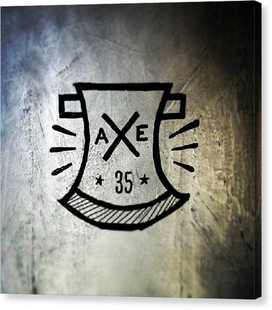 Axes Canvas Print - Axe 35. Logo Concept.  #handlettering by Ridza MH