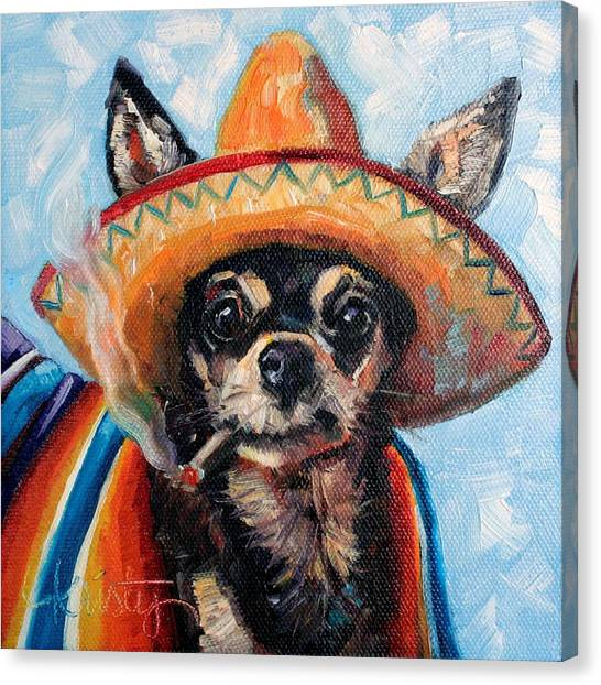 Chihuahuas Canvas Print - Ay Chihuahua by Kristy Tracy