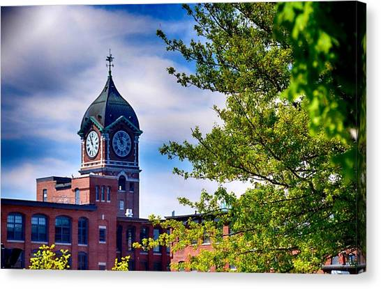 Ayer Mill In Lawrence Canvas Print