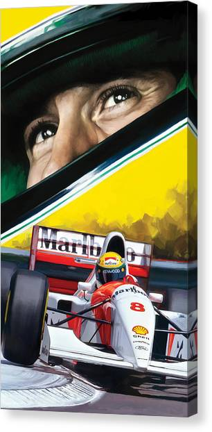 Ayrton Senna Artwork Canvas Print