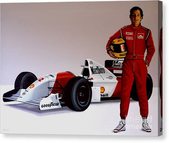 Brazilian Canvas Print - Ayrton Senna by Paul Meijering