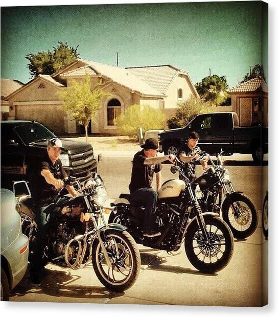 Harley Davidson Canvas Print - #az #arizona #motorcycle #riding by Josiah Moncrieff