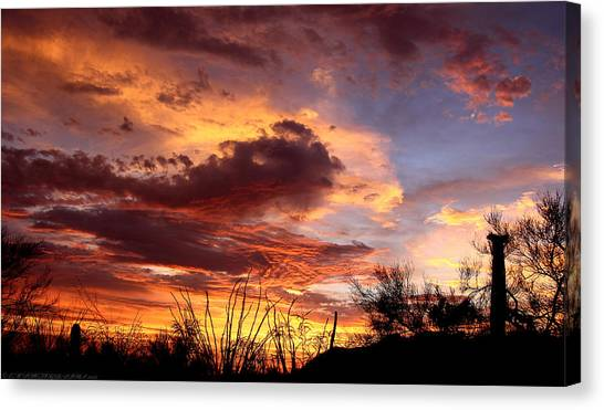 Az Monsoon Sunset Canvas Print