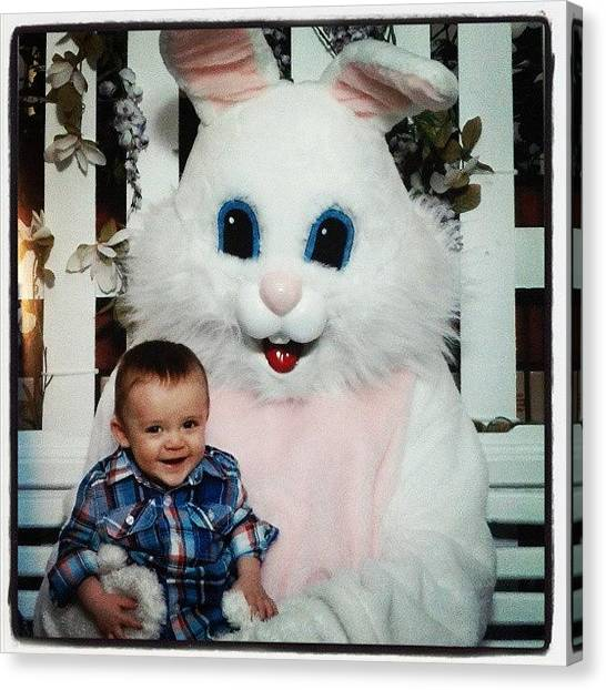 Dodge Canvas Print - #azael #easter #bunny by Wendy Dodge