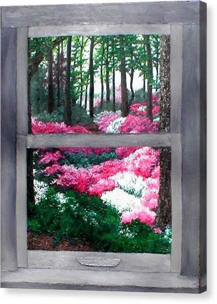 Azalea Bowl Overlook Gardens Canvas Print by Beth Parrish