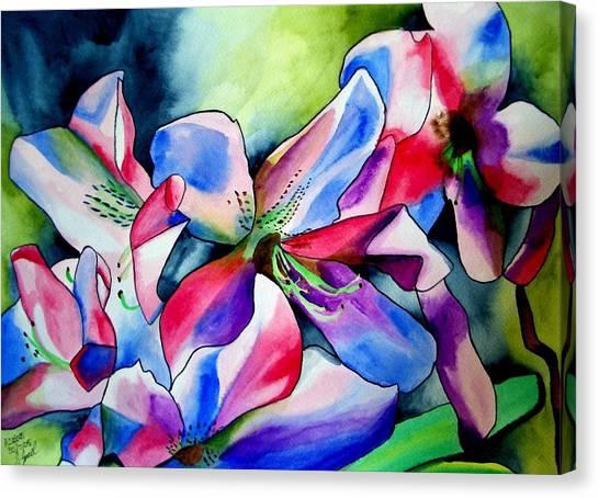 Azaleas Canvas Print by Sacha Grossel