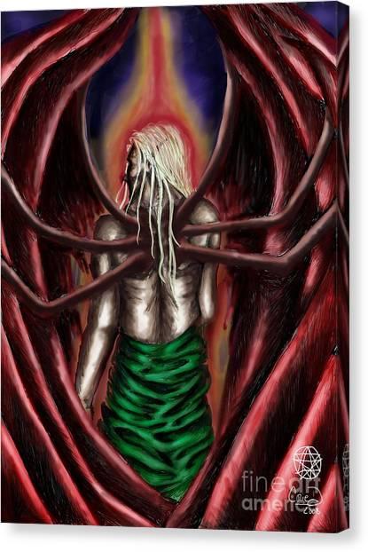 Azazel Canvas Print by Coriander  Shea