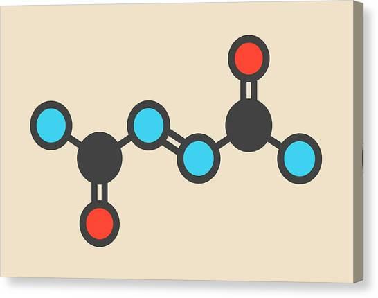 Improve Canvas Print - Azodicarbonamide Food Additive Molecule by Molekuul