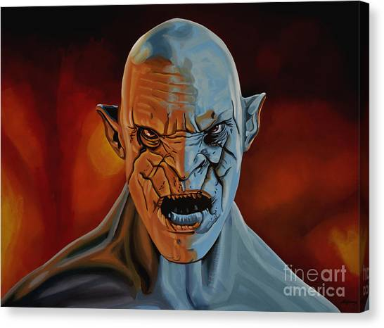 The Lord Of The Ring Canvas Print - Azog The Orc Painting by Paul Meijering