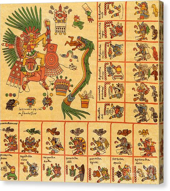 Aztec Pantheon Canvas Prints | Fine Art America