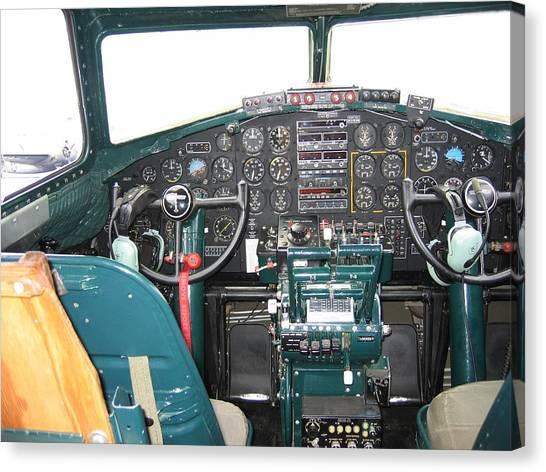 B-17 Flying Fortress Yankee Lady Cockpit Canvas Print