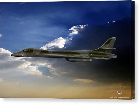 B-1b Lancer Canvas Print by Arthur Eggers