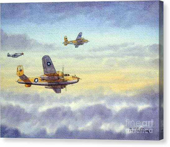 Aircraft Canvas Print - B-25 Mitchell by Bill Holkham