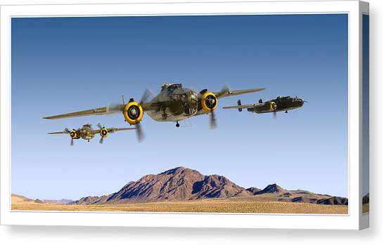 B-25 Mitchell Bomber Canvas Print by Larry McManus
