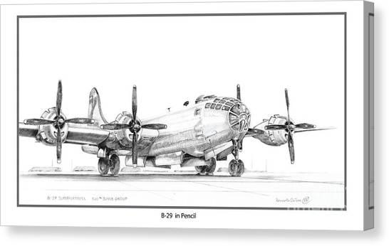 B-29 Canvas Print by Kenneth De Tore