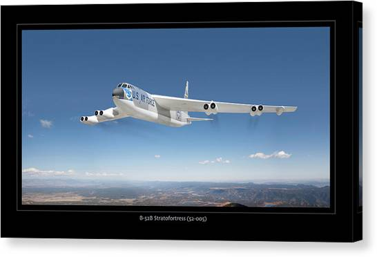 B-52b Stratofortress Canvas Print by Larry McManus