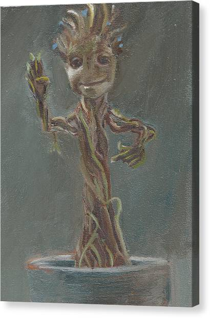 B And G Is For Baby Groot Canvas Print