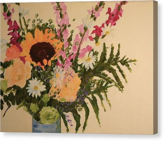 B-day Bouquet Canvas Print by Valerie Lynch