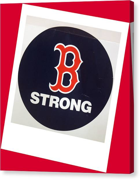 B Strong Red White And Blue Canvas Print