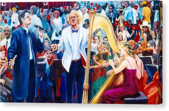 B07. The Singer And Conductor Canvas Print