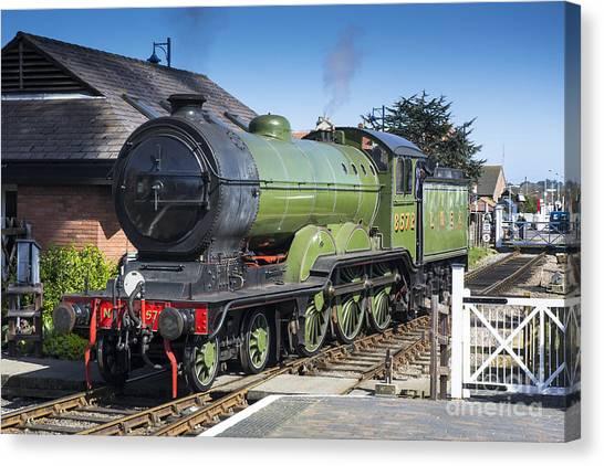B12 Steam Loco 8572 Canvas Print by Simon Pocklington
