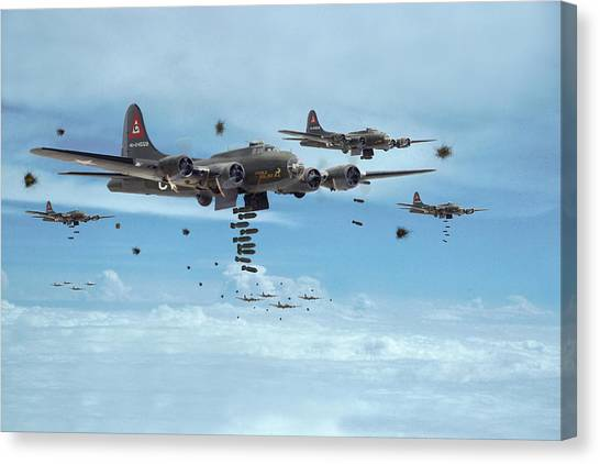 B17 - Mighty 8th Arrives Canvas Print