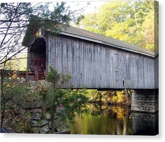 Babbs Covered Bridge In Maine Canvas Print