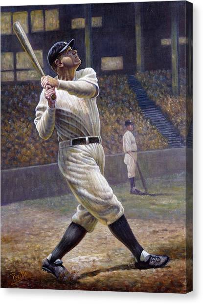 Babe Ruth Canvas Print - Babe Ruth by Gregory Perillo