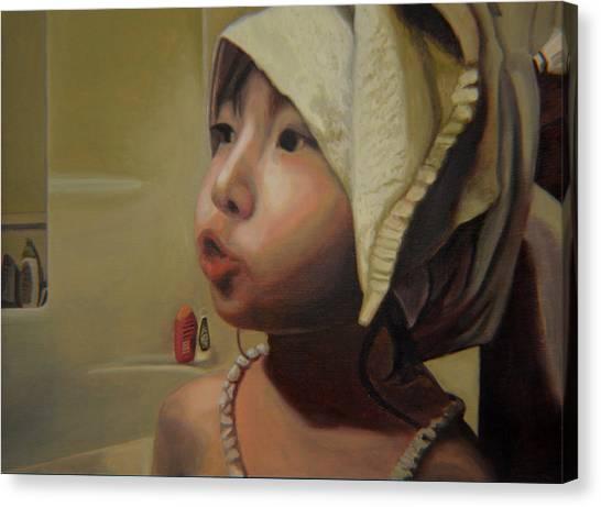 Baby Bath Mama Canvas Print