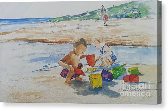 Baby Beach Bums Canvas Print