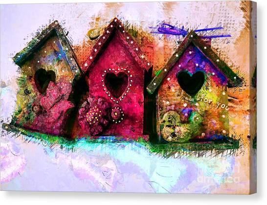 Baby Birdhouses Canvas Print