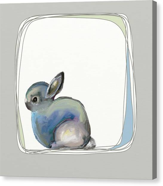Head Canvas Print - Baby Bunny by Cathy Walters