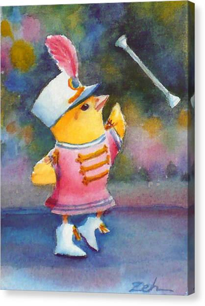 Baby Chick Drum Majorette Canvas Print