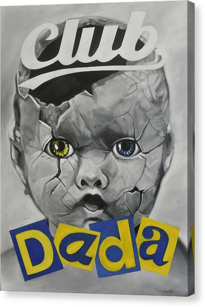 Dada Art Canvas Print - Baby Dada by Steve Hunter