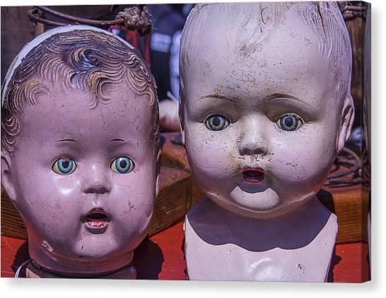 Fleas Canvas Print - Baby Doll Heads by Garry Gay