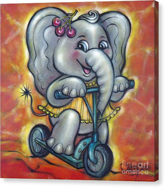 Baby Elephant 101011 Canvas Print