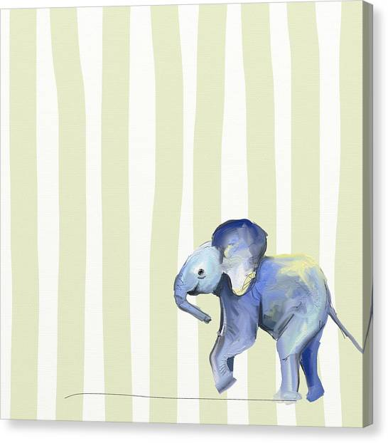 Large Mammals Canvas Print - Baby Ellie  by Cathy Walters