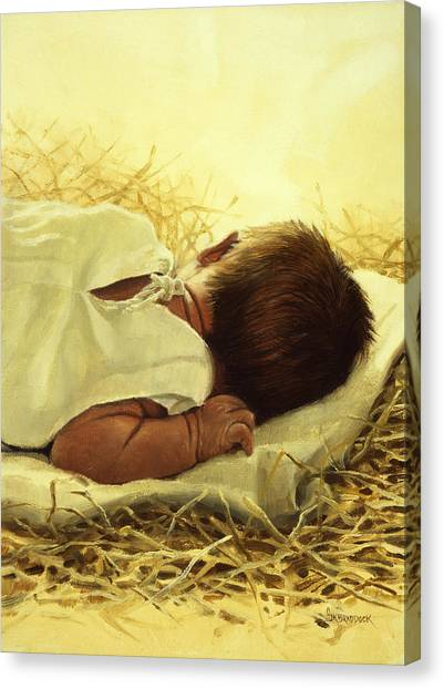 New Born Canvas Print - The Gift Of God by Graham Braddock