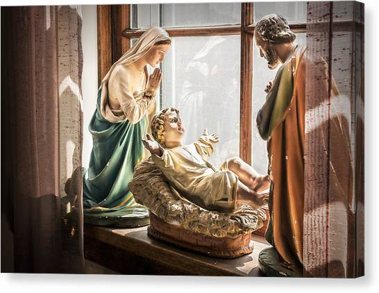 Baby Jesus Welcoming A New Day Canvas Print