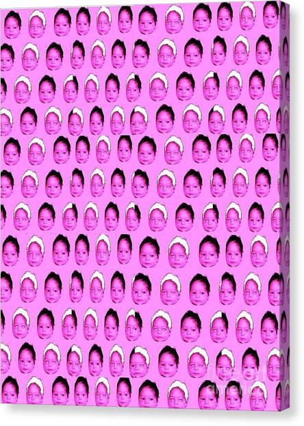 Baby Pink Canvas Print by Ricky Sencion