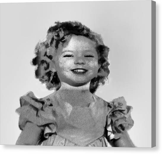 Shirley Temple Canvas Print - Baby Shirley Temple Sketch by Linda Phelps