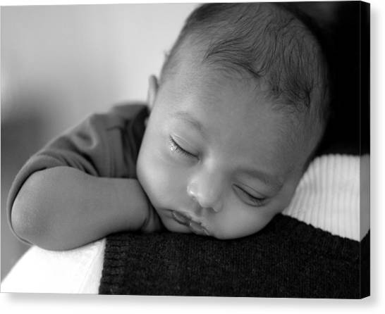 Baby Sleeps Canvas Print