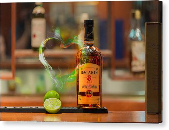 Bacardi And Lime In Love Canvas Print by Gavin Baker
