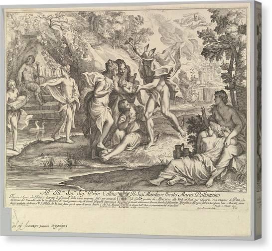 Procaccini Canvas Print - Bacchus As A Child Given By Mercury by Andrea Procaccini