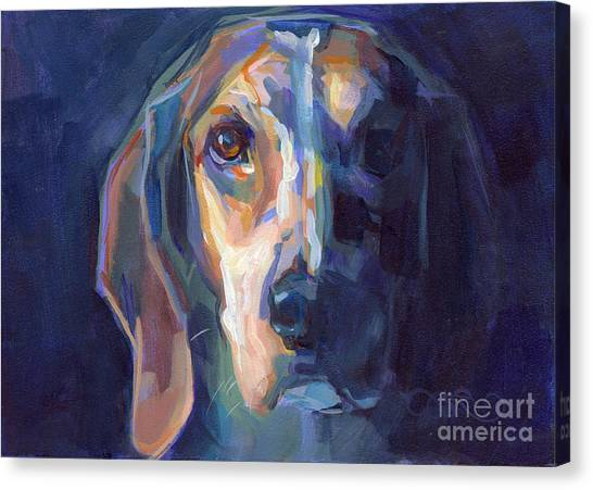 Beagles Canvas Print - Bacchus by Kimberly Santini