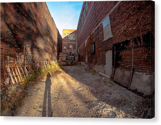Back Alley Shadow Canvas Print
