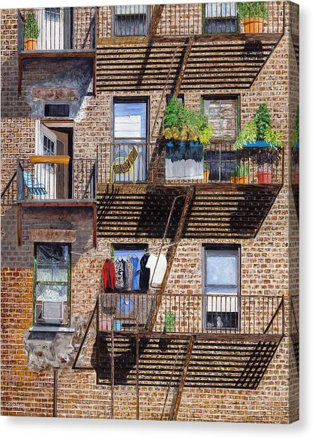 Back Alley View Greenwich Vlg Canvas Print
